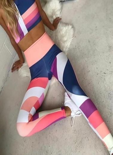 Fashion Tayt 2 li Takım Renkli
